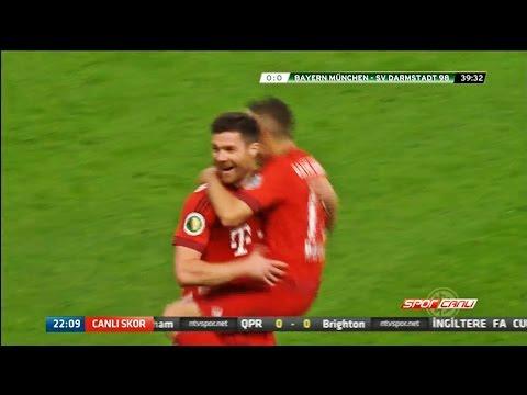 Xabi Alonso amazing goal! Bayern München 1-0 SV Darmstadt 98