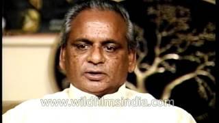 Indian Politician Kalyan Singh speaks about government of Uttar Pradesh
