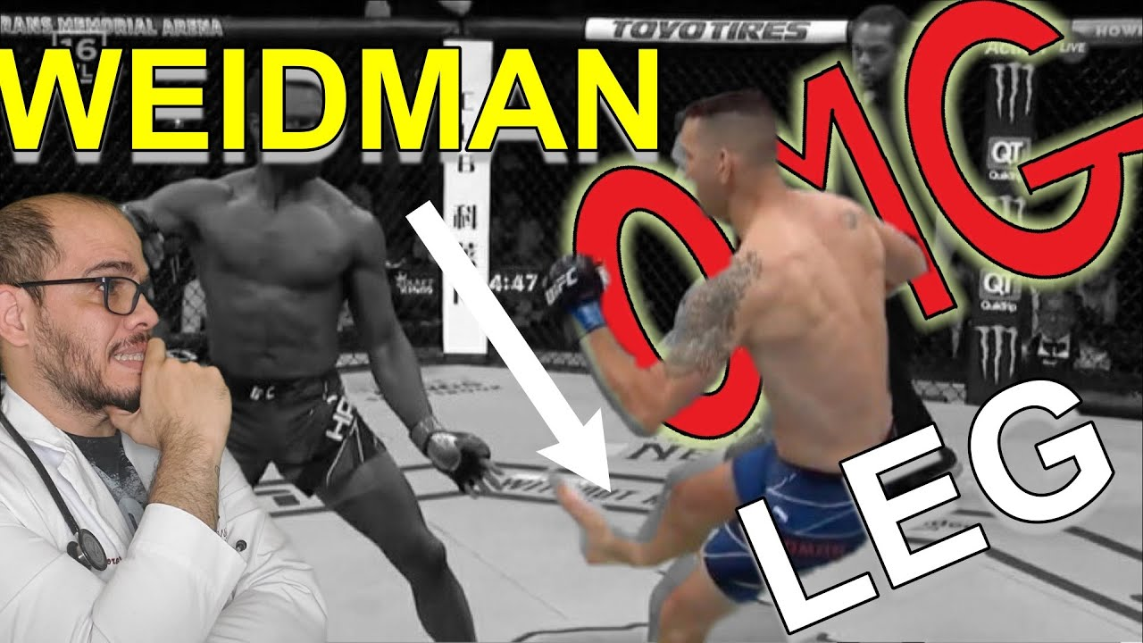 Weidman shatters leg 17 seconds into UFC 261 bout with Hall