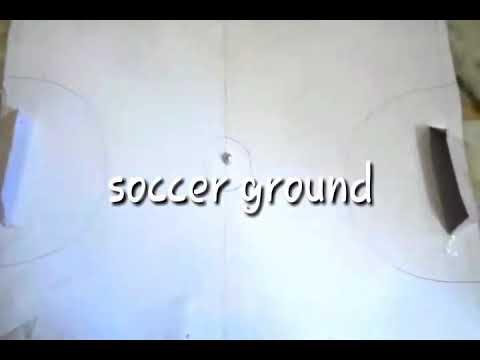 How to make paper soccer (football) ground .soccer ball .boundeies.goal poast