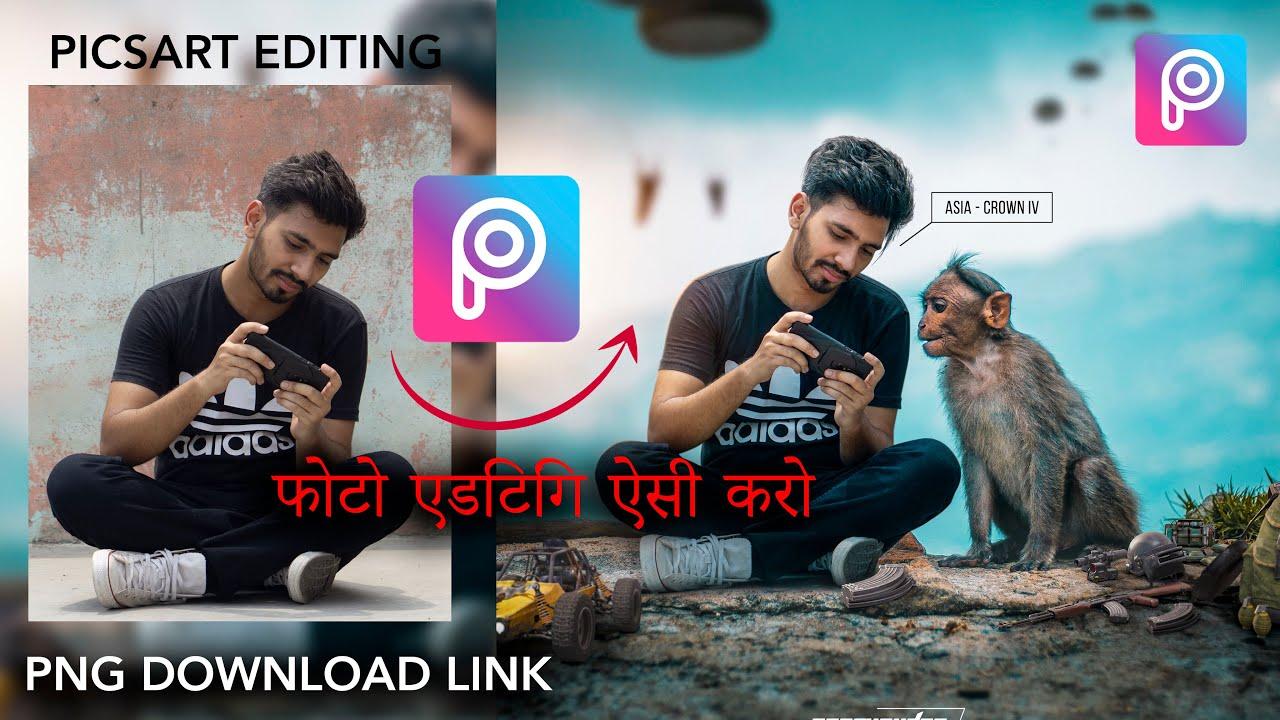 Picsart Mobile Tutorial PUBG   Best photo editing   picsart photo editing