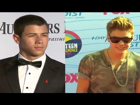 Justin Bieber, Nick Jonas & Demi Lovato X-Factor Reunion!