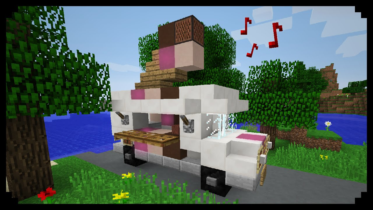 Minecraft How To Make An Ice Cream Truck Youtube
