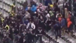 Футбол Турция Россия Драка фанатов