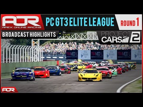 Project CARS 2 | AOR PC GT3 Elite League: S8 Round 1 - Imola (Broadcast Highlights)