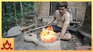Primitive Technology: Forge Blower(I invented the Bow Blower, a combination of the bow drill and forge blower to make a device that can force air into a fire while being easy to construct from ..., 2016-07-29T21:15:33.000Z)