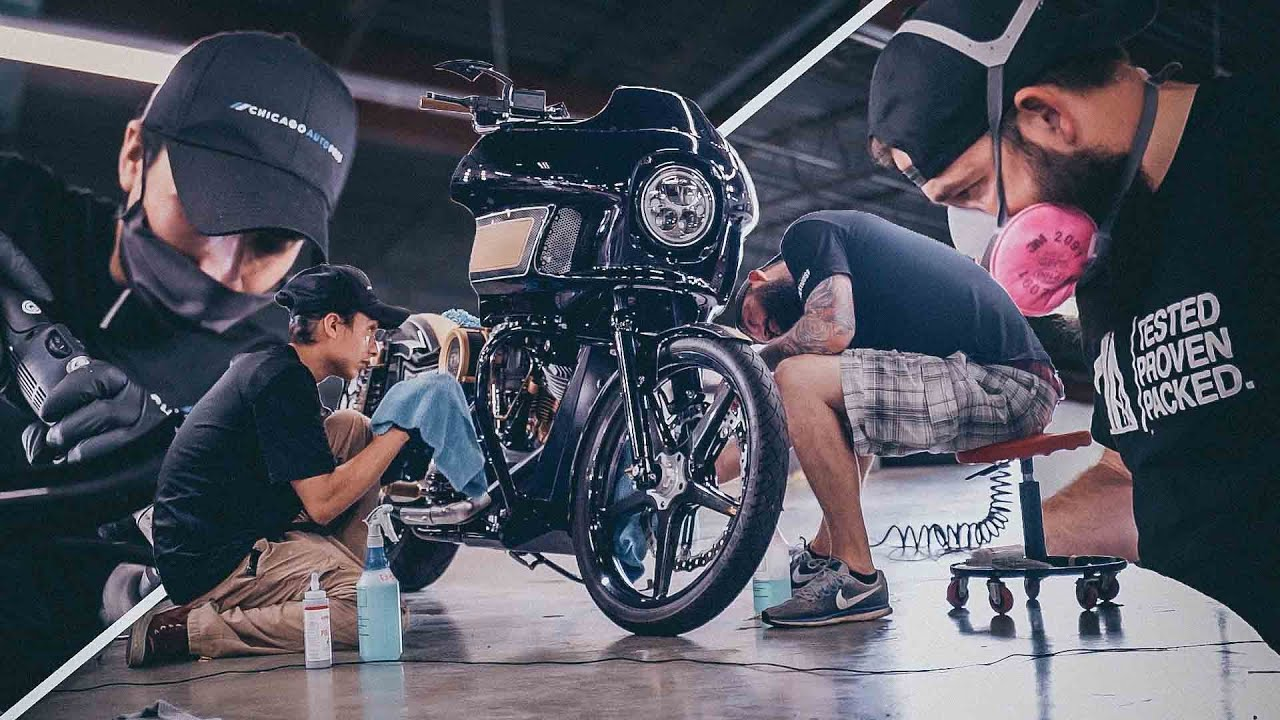 $100,000 Custom Motorcycle Detail