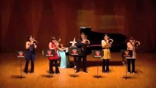 """Trombone Quartet """"TINTS"""" Number : """"A Song for Japan"""" Steven Verhels..."""