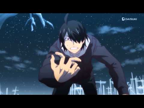 Tsukimonogatari – Araragi uses vampiric powers to heal fingers [Eng Sub]