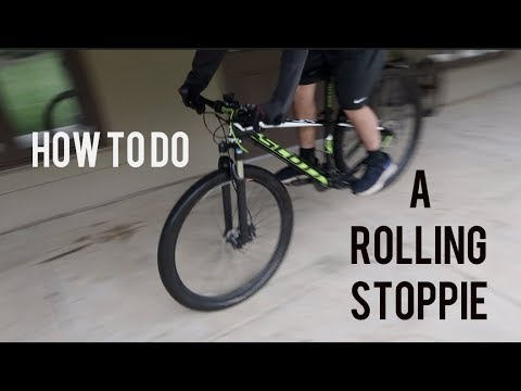 How To Do A Rolling Stoppie On A Mountain Bike *tutorial* (easy)