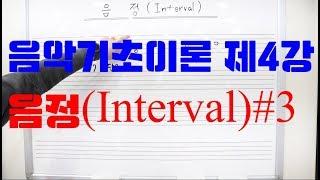 음악기초이론 제4강 음정(INTERVAL) #3