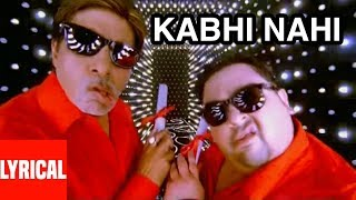 "Lyrical Video ""Kabhi Nahee"" Super Hit Album 