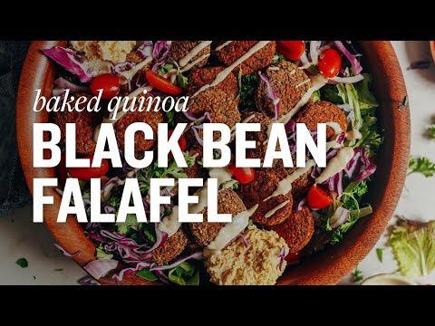 Baked Quinoa Black Bean Falafel | Minimalist Baker