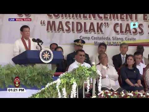 FULL SPEECH: Pangulong Rody Duterte sa PNPA #MASIDLAK Class of 2017