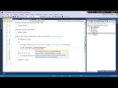 Servicio Windows desde ASP.NET C#