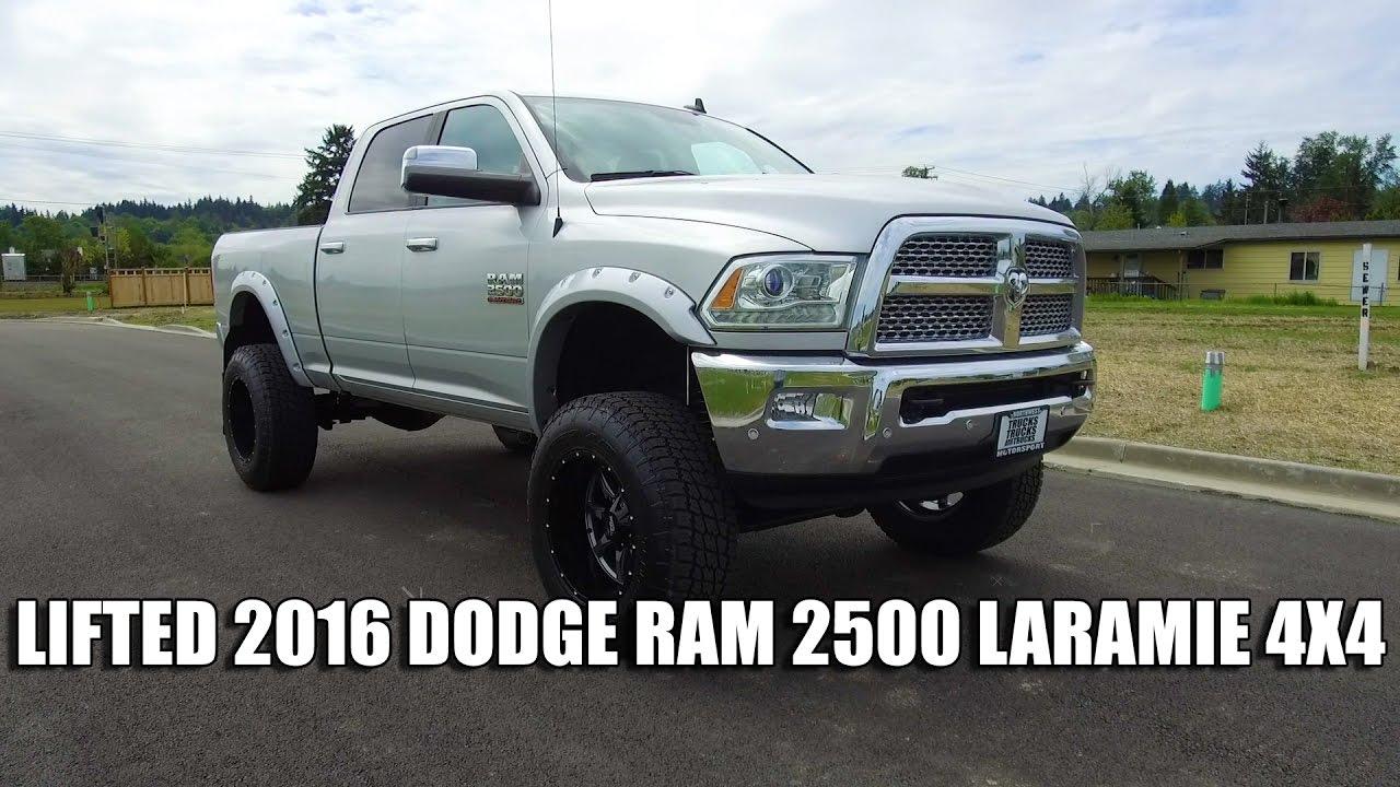 lifted 2016 dodge ram 2500 laramie 4x4 youtube. Black Bedroom Furniture Sets. Home Design Ideas