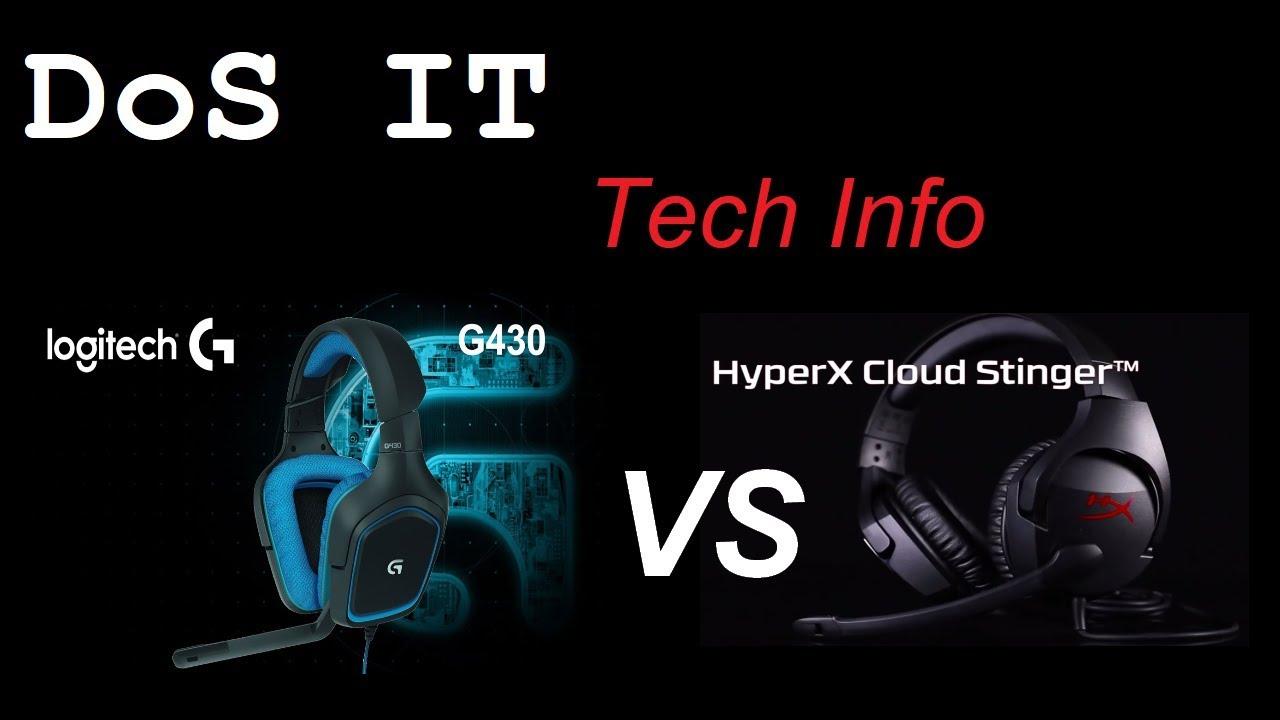 15494027bb4 HyperX Cloud Stinger vs Logitech G430 - Confronto per veri gamers ...