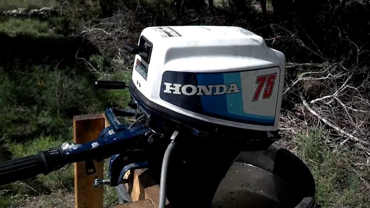 1983 bf75l honda 7 5hp outboard after service youtube rh youtube com Honda 75 Outboard Honda 7.5 Outboard Shaft Length