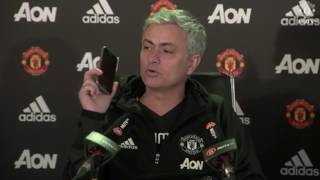 FUNNY: Jose Mourinho Answers Phone To talkSPORT At Press Conference