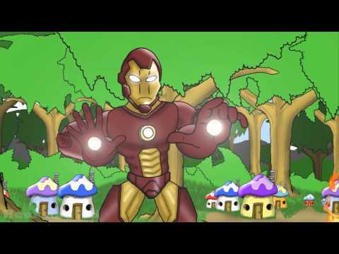 Iron Man vs Smurfs