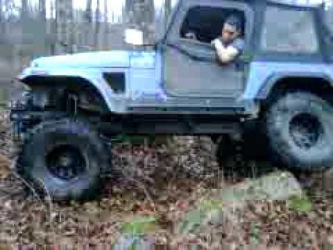 82 Jeep CJ7 AMC V8 Off Road Rock Suspension Flex - Short Clip