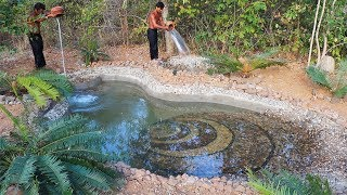 Build most beautiful a coral swimming pool by ancient