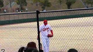 ウエスタンリーグ、広島カープ対中日ドラゴンズ、2011年3月27日、由宇球場.