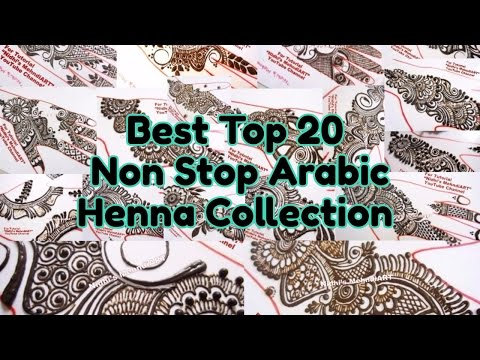 Best Top 20 Non Stop Henna Collection of Arabic Mehndi Designs for Marriage by Nidhi's MehndiART