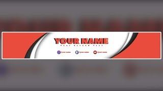 Free Youtube Banner Template #14