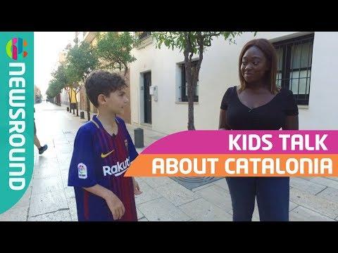 Spanish Kids on Catalan Independence  round