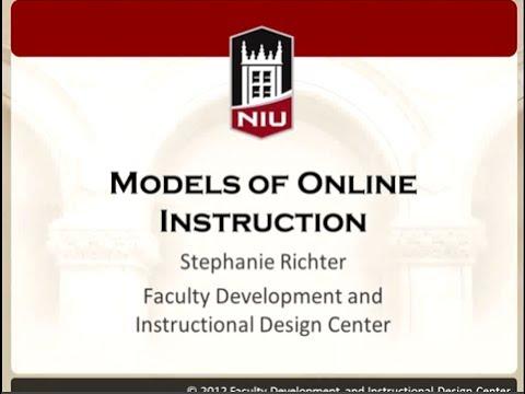 Models of Online Instruction