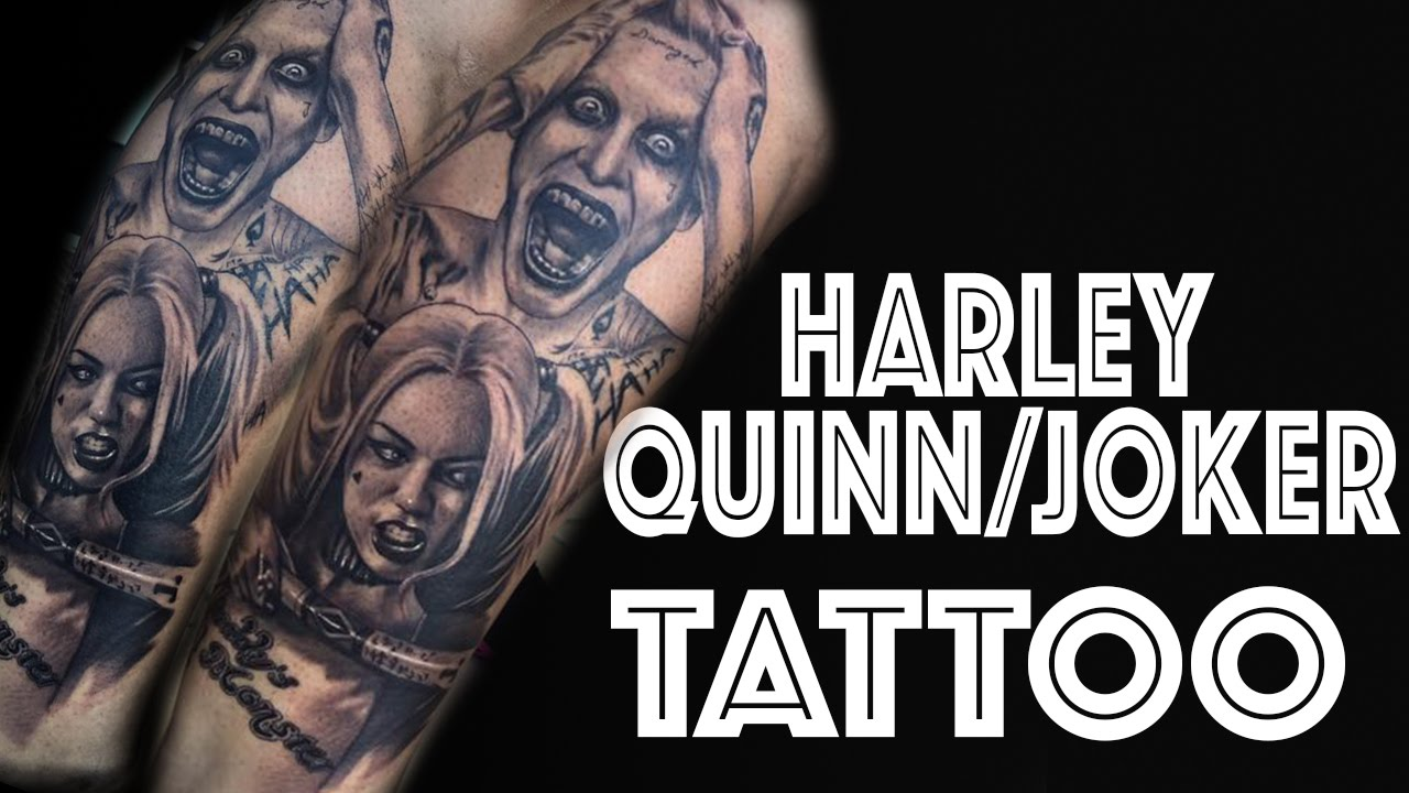Matching Joker And Harley Tattoo: Harley Quinn And Joker TATTOO Time Lapse