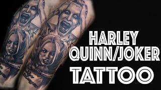 Harley Quinn And Joker Tattoo Time Lapse