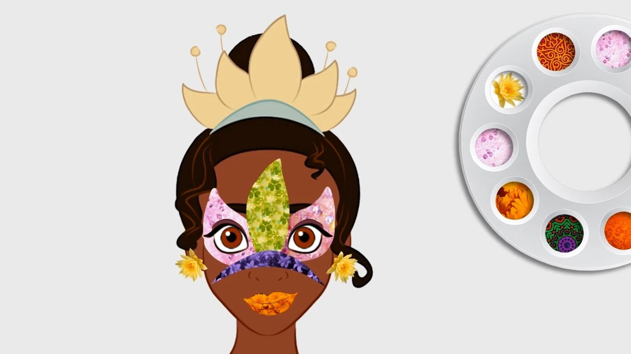 Disney Princess Tiana Face Painting | Coloring Pages for Girls ...