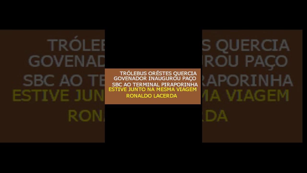 Trolebus Orestes Quercia govenador do estado de São Paulo inauguração 1990