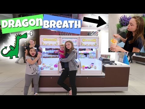 SQUISHIES + SLIME STANDS AT THE MALL! TRYING DRAGON BREATH F