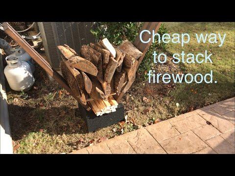 landmann 8 foot firewood rack with