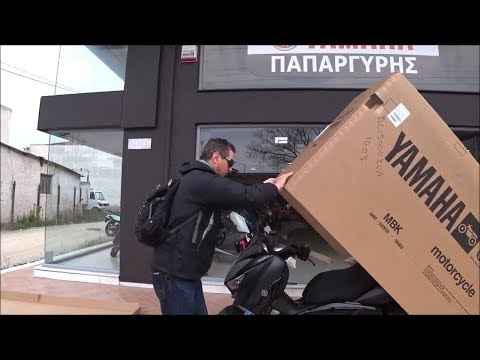 Unboxing  YAMAHA X-MAX 400 Iron Max Scooter (σκούτερ)