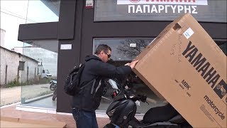 unboxing YAMAHA X MAX 400 iron max scooter