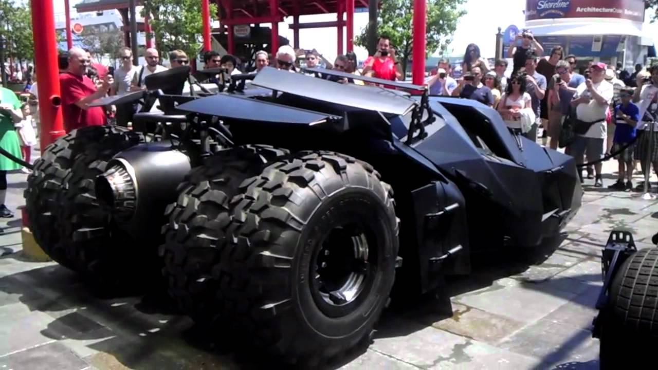 the batcar from batman movie - YouTube