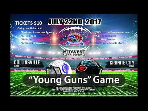 "Collinsville vs Granite City -""Young Guns""  Alumni Football Game July 22, 2017"