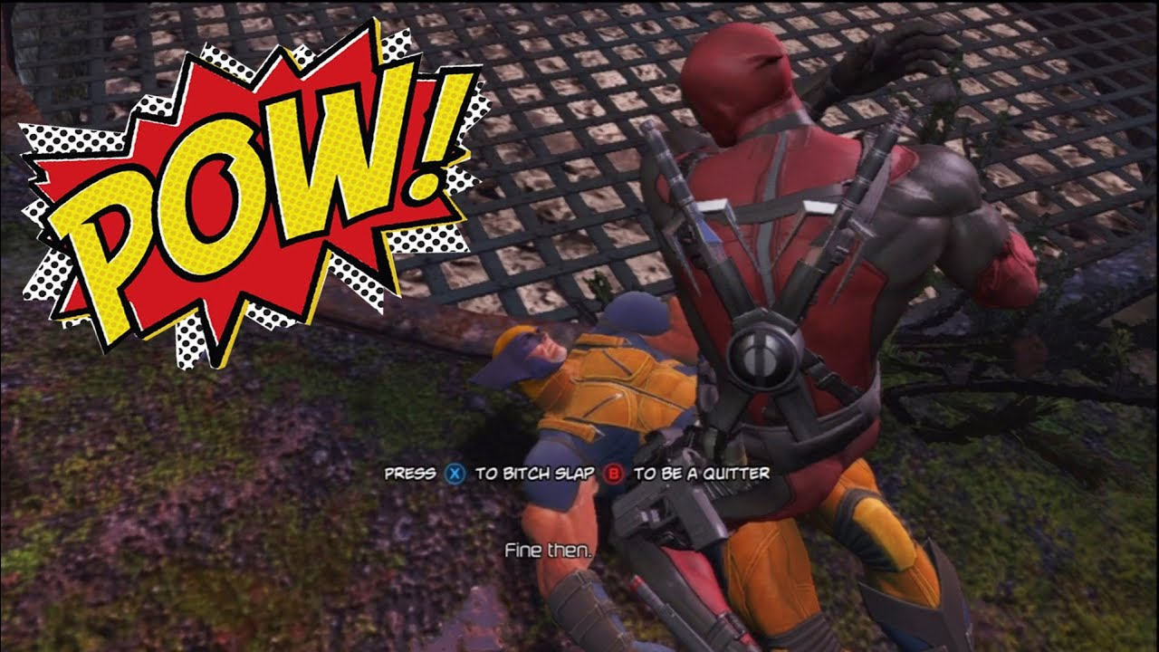 Deadpool Bitch Slapping Wolverine Let S Try This One