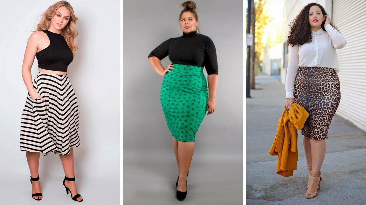 7e989e020 FALDAS Y BLUSAS ELEGANTES PARA GORDITAS  Moda  Fashion  Faldas - YouTube