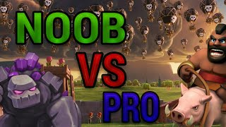 Noob VS Pro Clash OF Clans