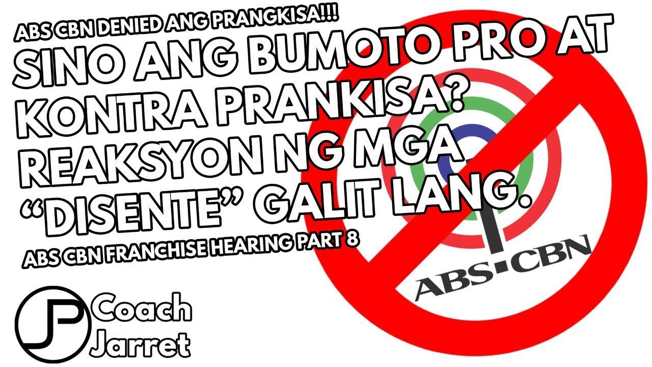 ABS CBN FRANCHISE DENIED | SINO ANG BUMOTO PRO AT ANTI FRANCHISE? | GALIT NG MGA DISENTE KITANG KITA