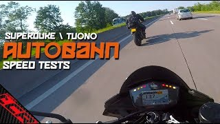 Autobahn Speed Tests! | Superduke Vs Tuono Tour EP06