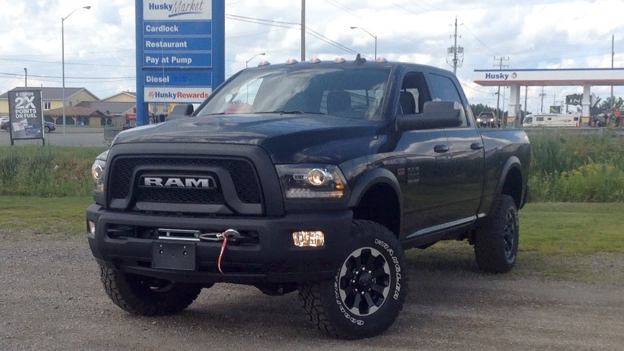 2018 Ram Power Wagon >> 2018 Ram 2500 Power Wagon Start Up Exterior Interior Brief Drive Full Review