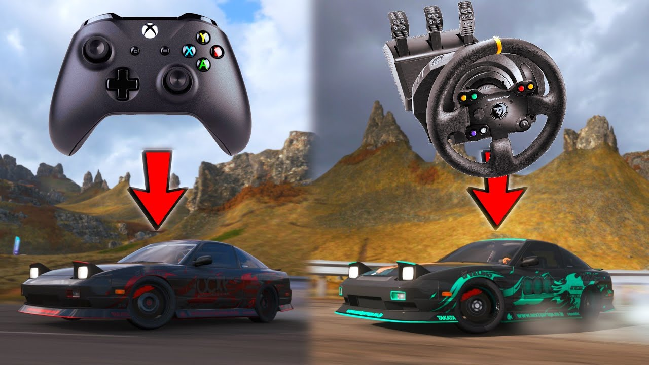 Drifting The Needle Climb on CONTROLLER vs WHEEL - Forza Horizon 4