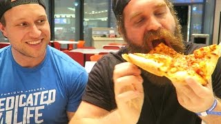One Bite Pizza Eating Contest vs Harley (Epic Meal Time)