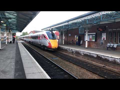 Azuma train going through Goole, East Yorkshire